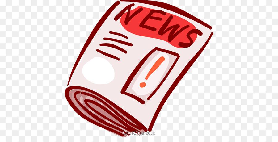 Newspaper clipart newspaper magazine. Line logo red transparent
