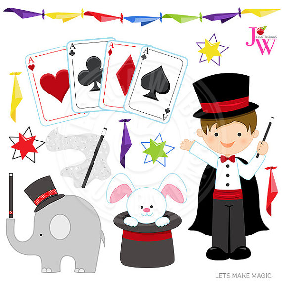 Magic clipart. Lets make cute digital