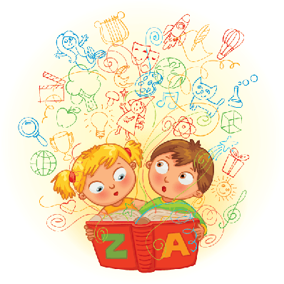 And girl reading a. Magic clipart boy