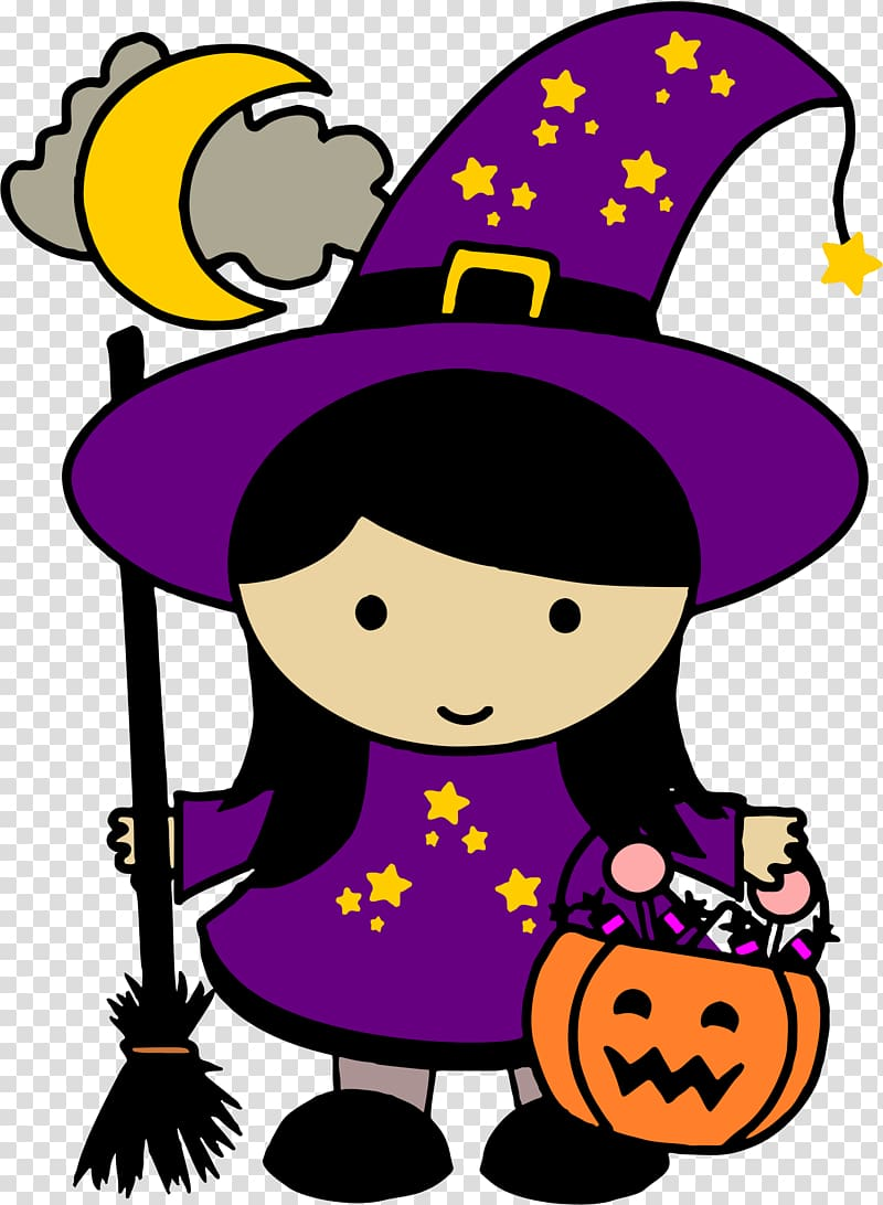 Witchcraft transparent background png. Witch clipart cute halloween character