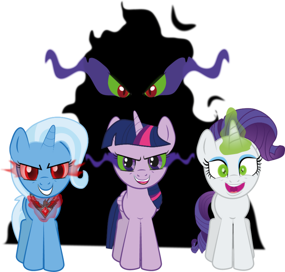 Ponies by raggyrabbit on. Magic clipart dark magic