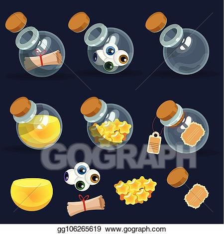 Magic clipart game. Vector illustration icon of
