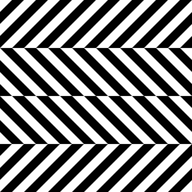 Black and white optical. Magic clipart illusion
