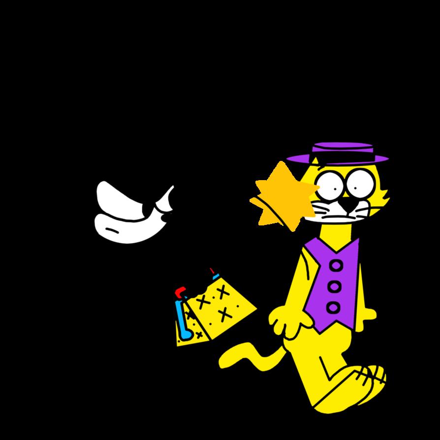 Magic clipart magic bag. Felix beating top cat