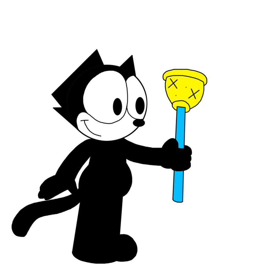 Magic clipart magic bag. Felix with turned plunger
