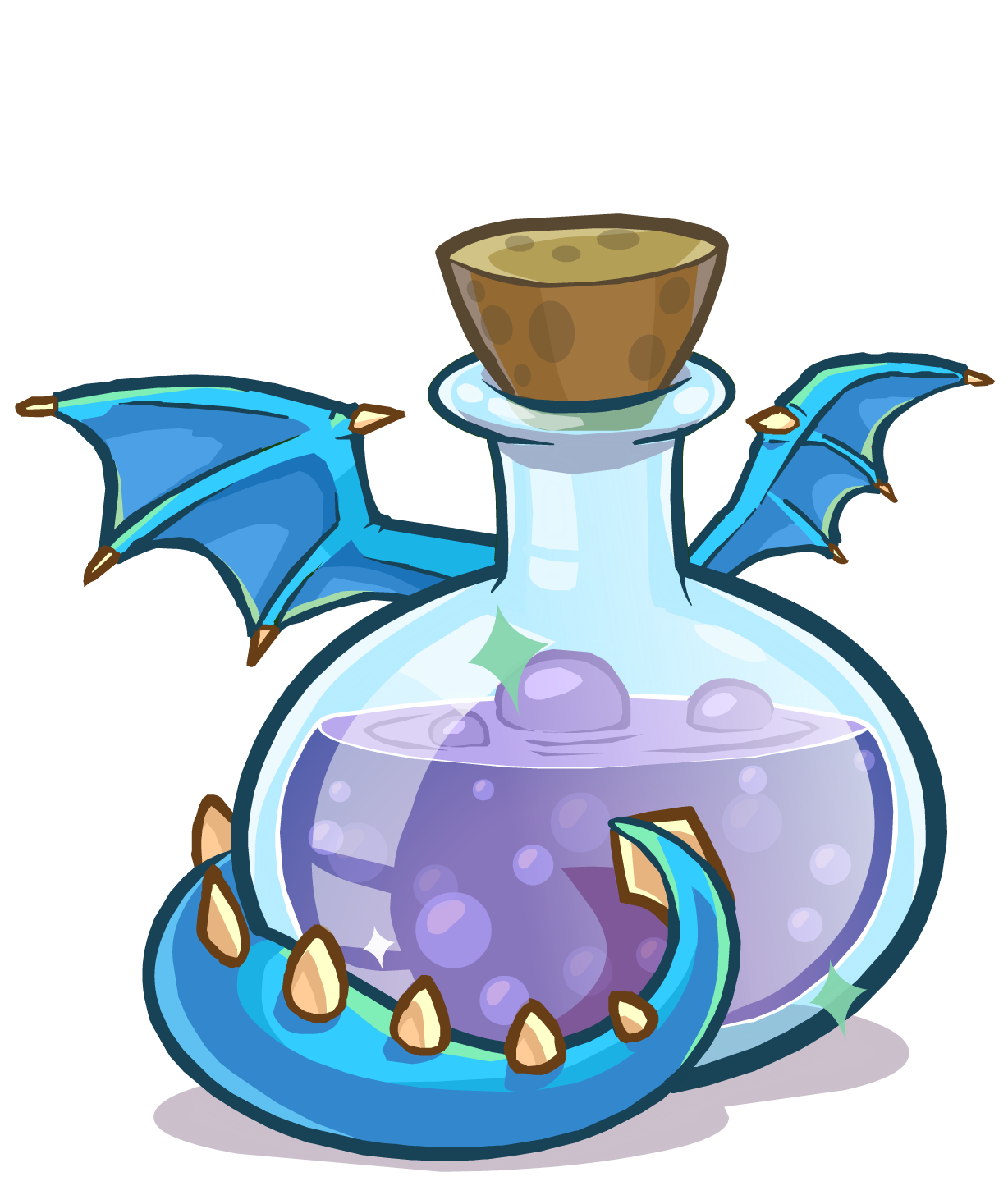 Image potions blue puffle. September clipart medieval food