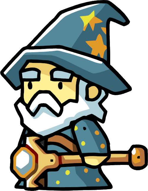Magic clipart merlin. Wizard scribblenauts wiki fandom