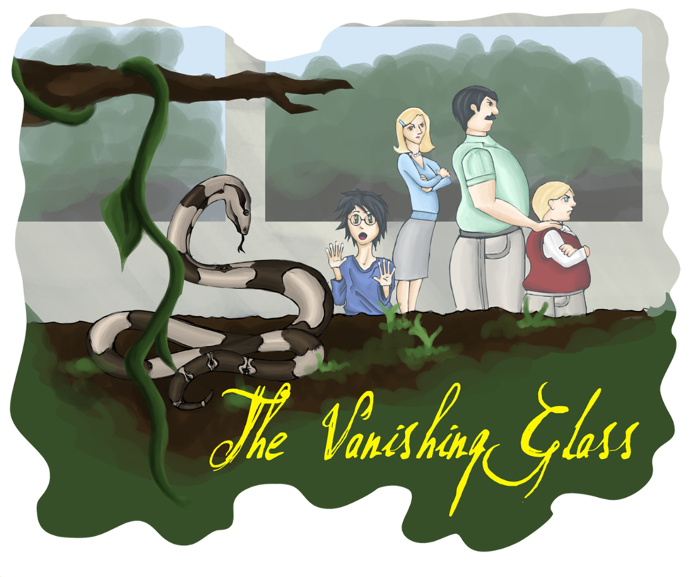 The vanishing glass by. Magic clipart vanished