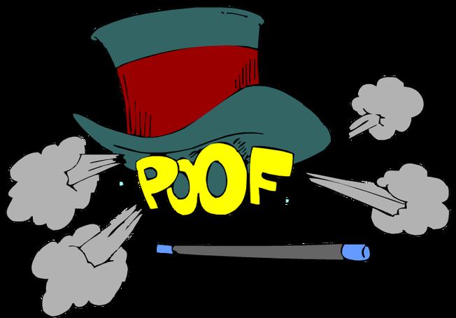 magician clipart vanished