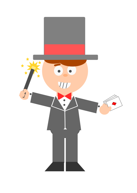 Animated . Magician clipart