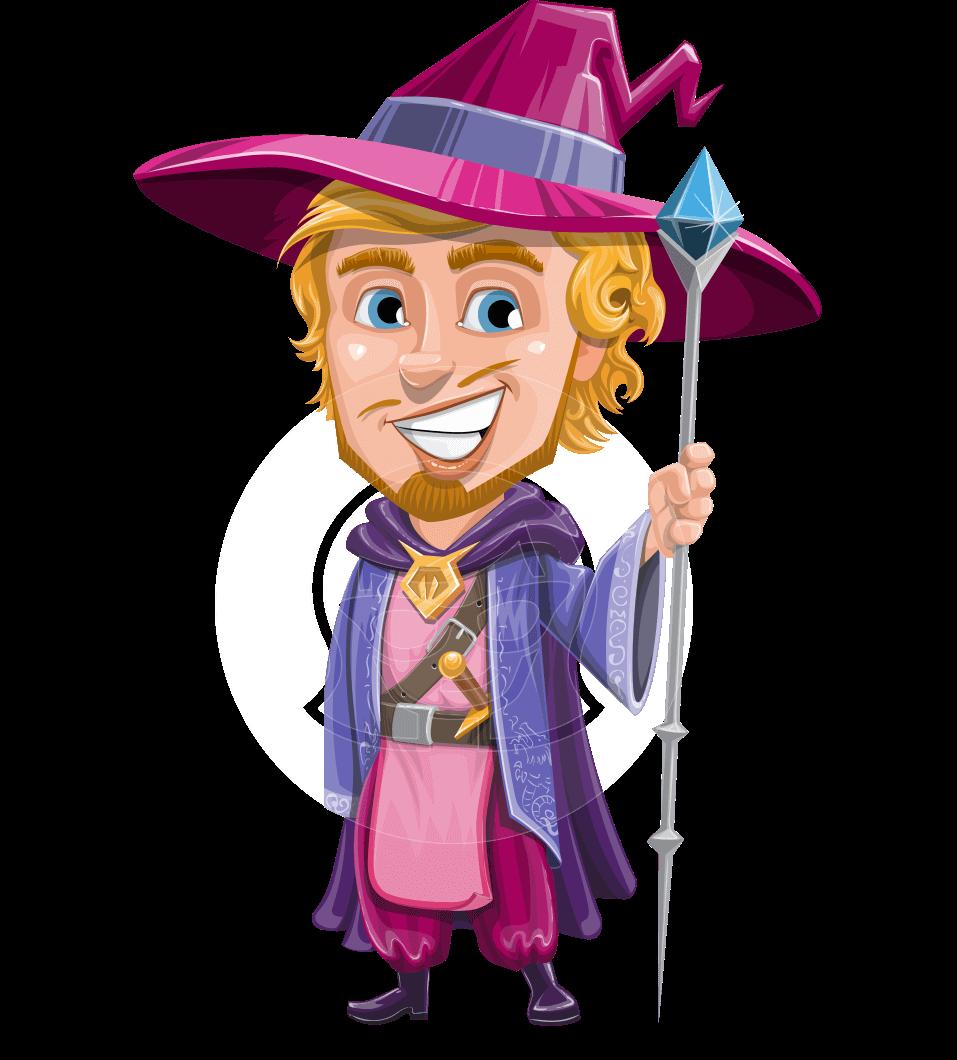 Magnus the great enchanter. Magician clipart cape