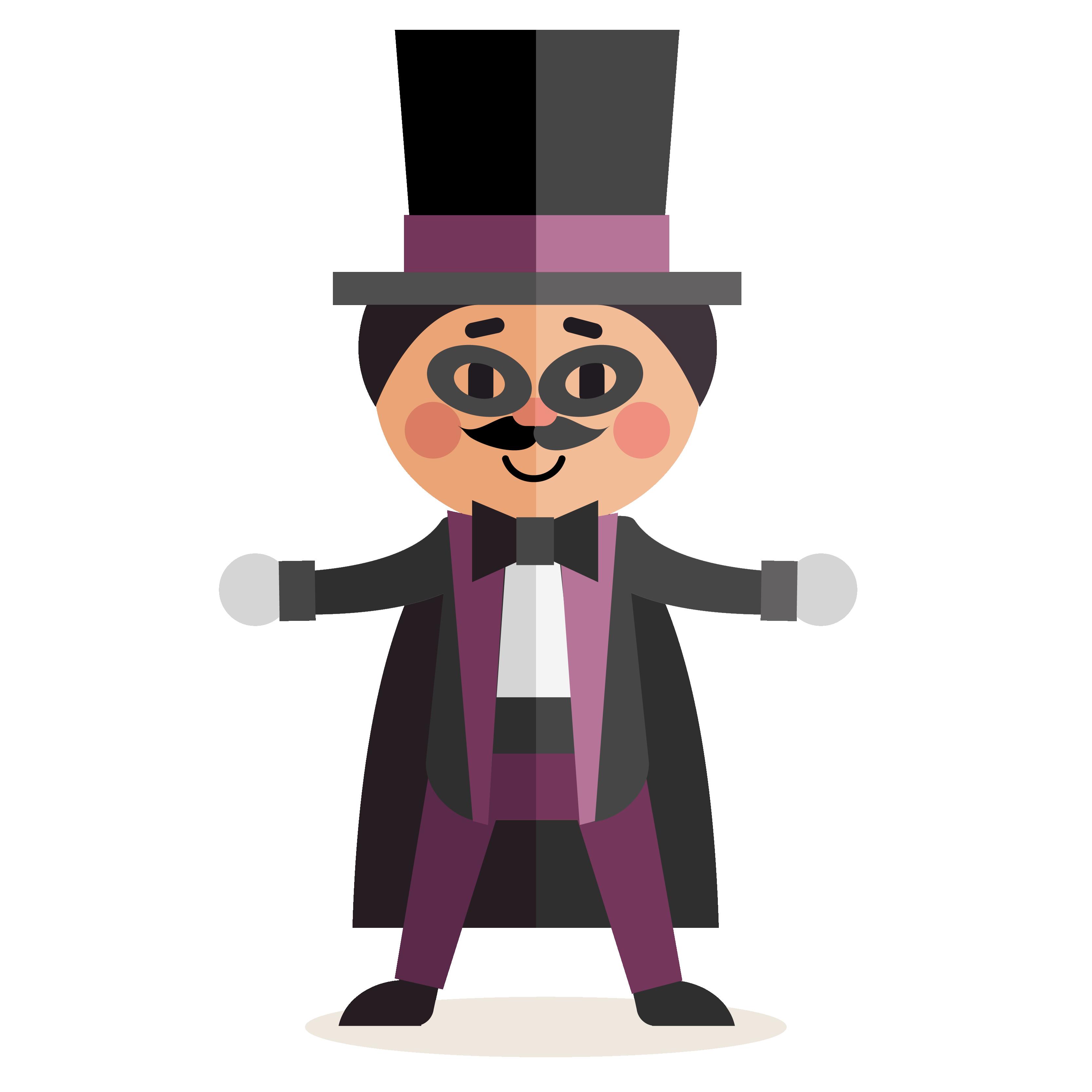 Download flat character. Magician clipart circus