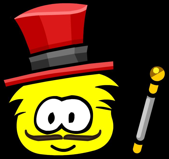 Great puffle ringmaster club. Magician clipart circus
