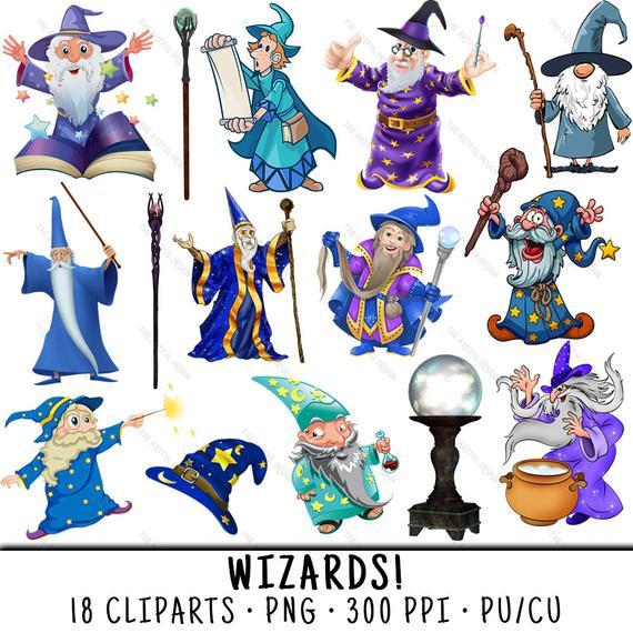 Wizard png . Magician clipart clip art
