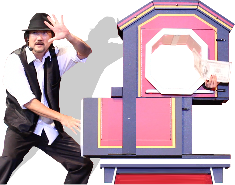 The magic of alan. Magician clipart illusion