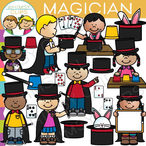 Kids clip art . Magician clipart kid magician
