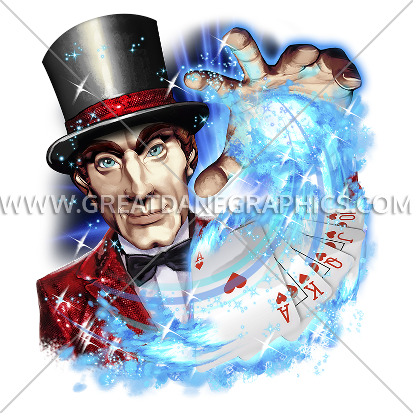 Vegas production ready artwork. Magician clipart magic man