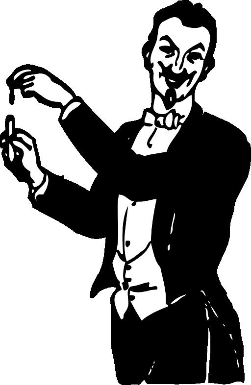 Magician clipart magic trick. Doing a i royalty