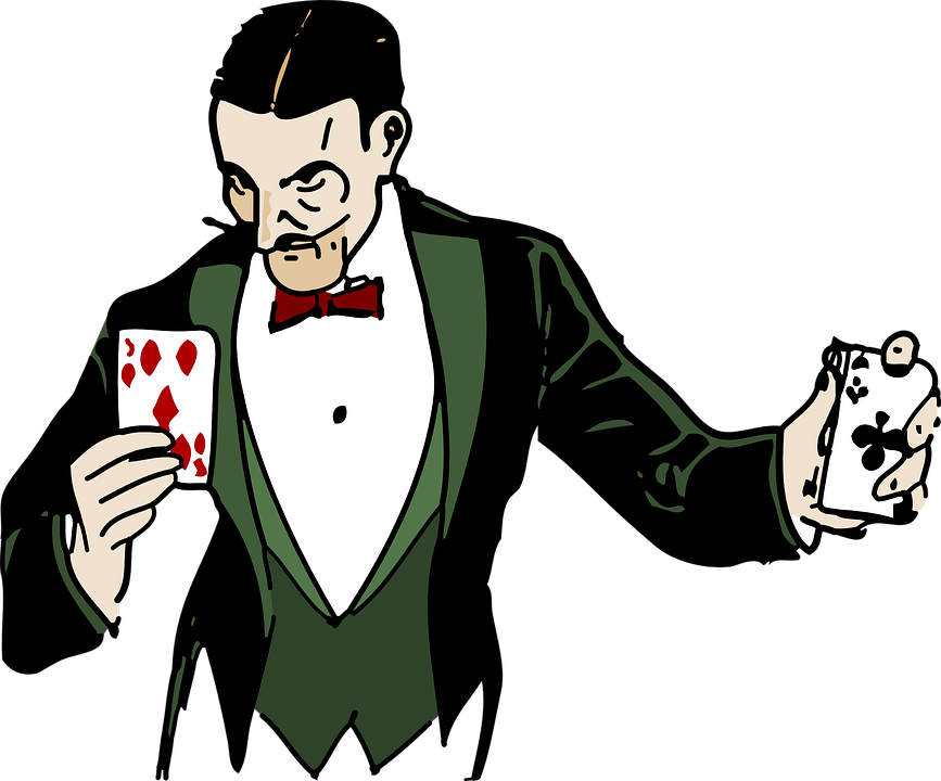 Never found the plot. Magician clipart magic word