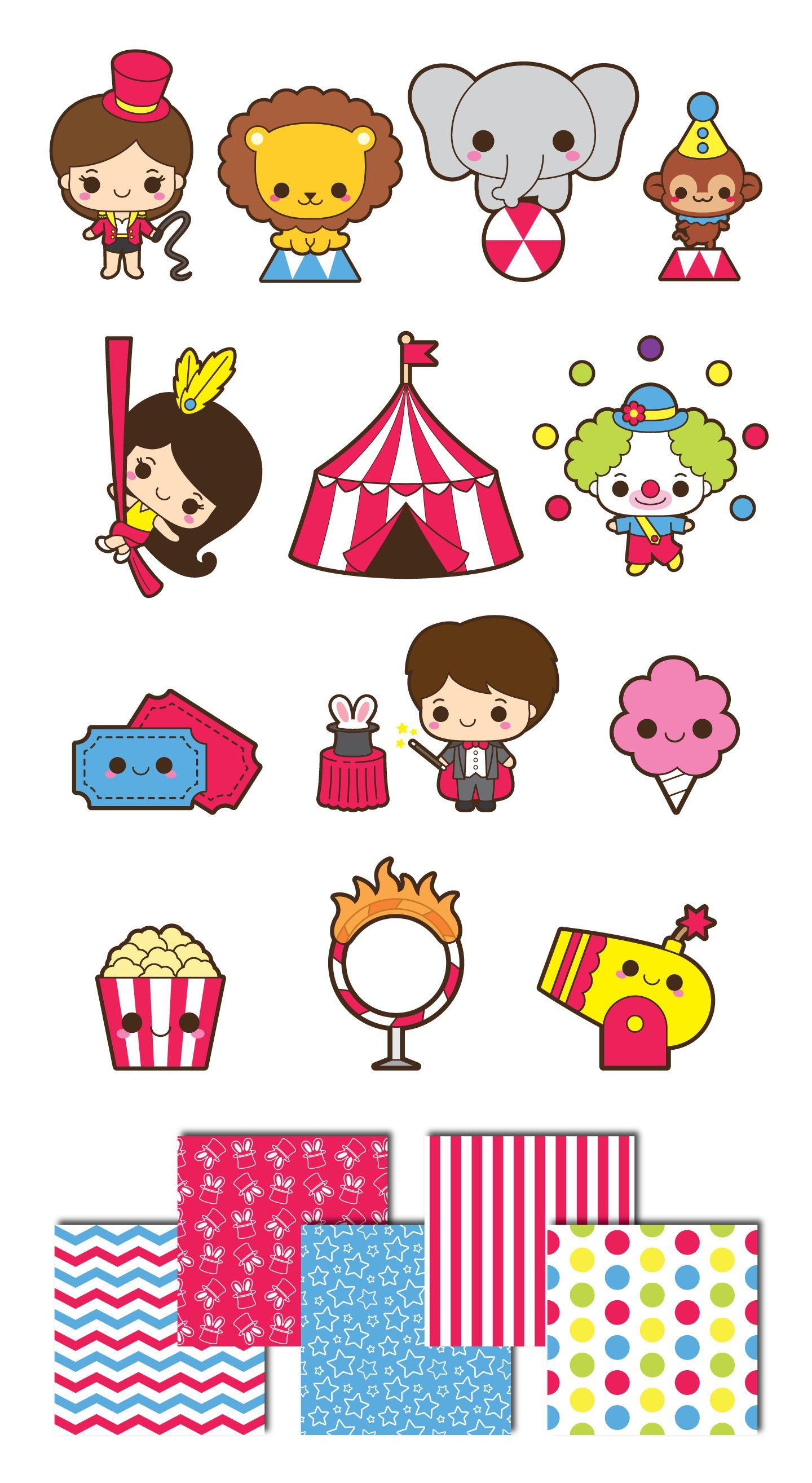 Kawaii circus clip art. Magician clipart new years eve