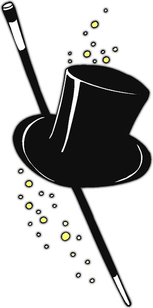 Magician clipart new years eve. Top hat year graphics