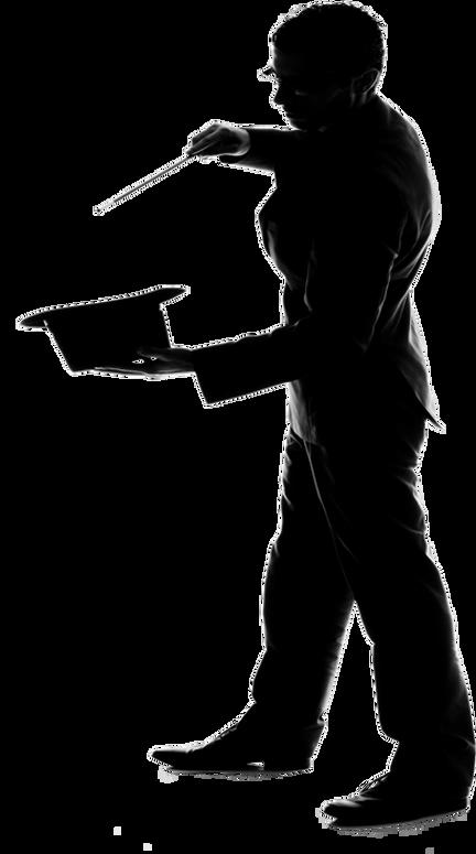 magician clipart silhouette