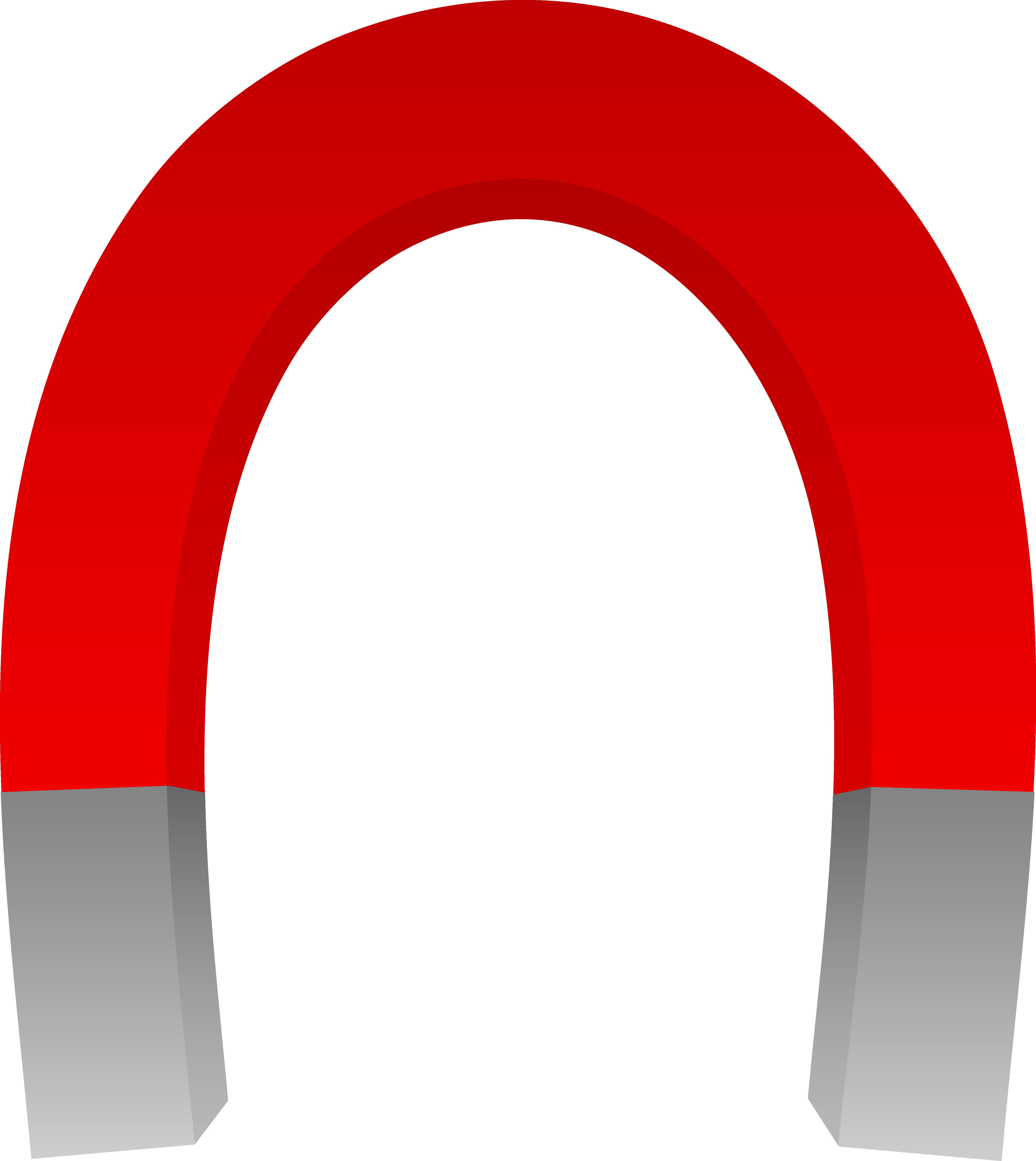 Horseshoe clipart clip art. Big red magnet free
