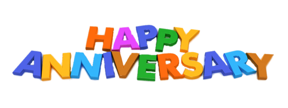 Happy magnet letters transparent. Anniversary clipart file