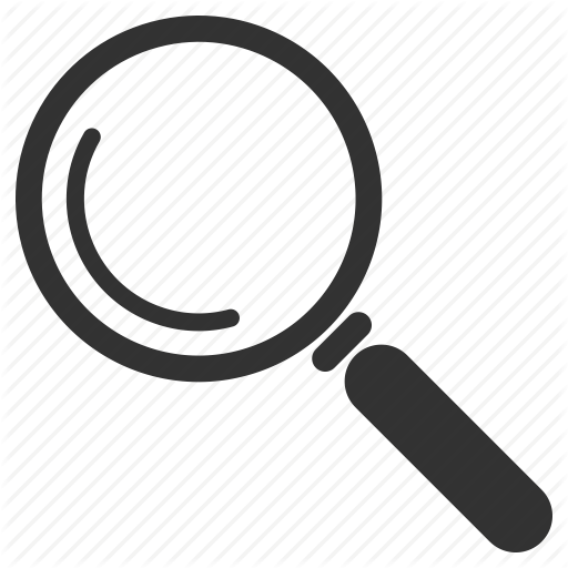 E commerce by nicola. Magnifying glass icon png