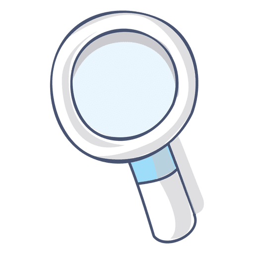 Magnifying glass vector png. Illustration hand drawn transparent