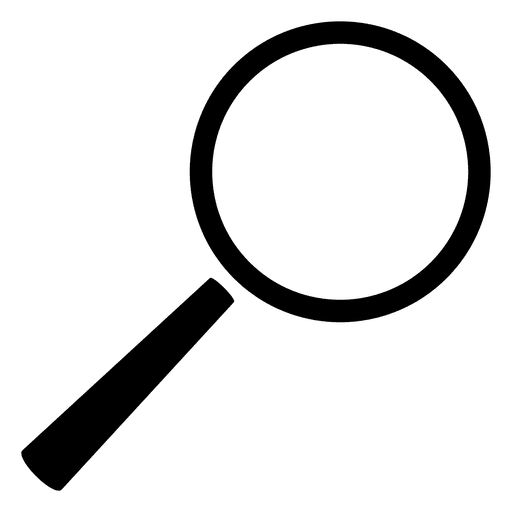 Search transparent svg. Magnifying glass vector png