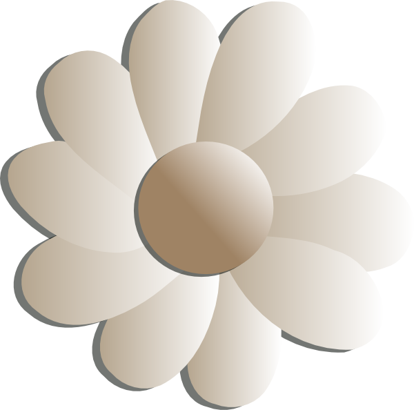 Clip art at clker. White flower clipart png