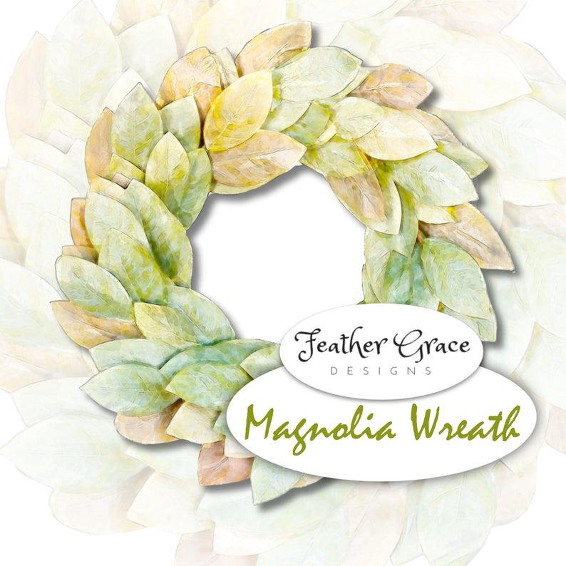 Wreath watercolor logo purple. Magnolia clipart lavendar