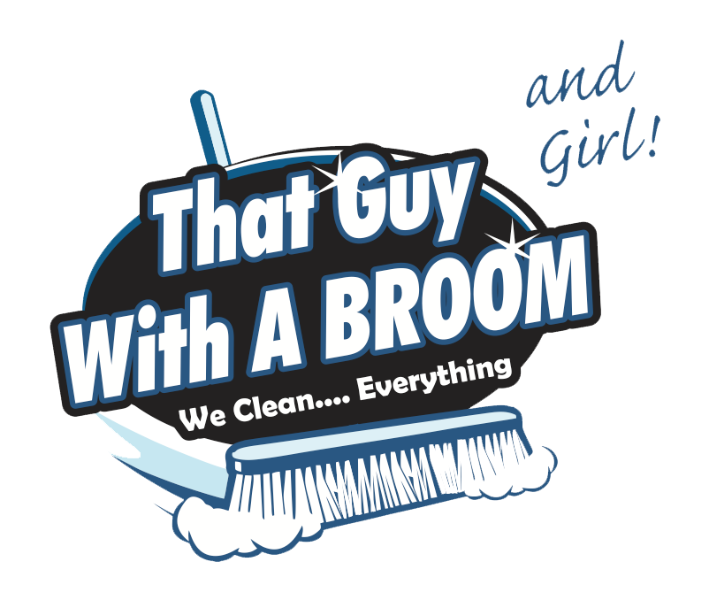 Cleaning services ocean view. Maid clipart broom