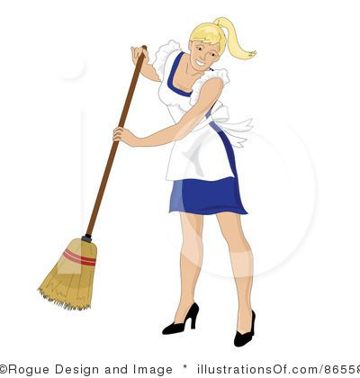 Maid clipart broom. W clip art cleaning