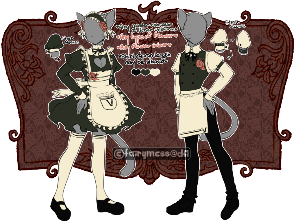 Vc and uniforms by. Maid clipart butler