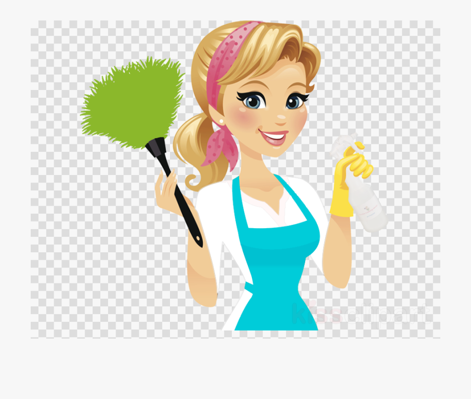 Maid clipart cleaning lady. Service cliparts cartoons