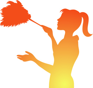 Free image computer . Maid clipart dusting