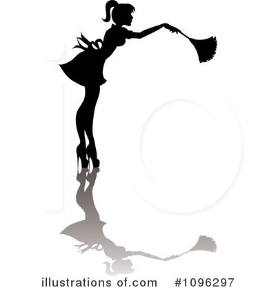 Illustration by pams . Maid clipart dusting