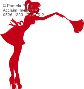 Clip art illustration of. Maid clipart feather duster