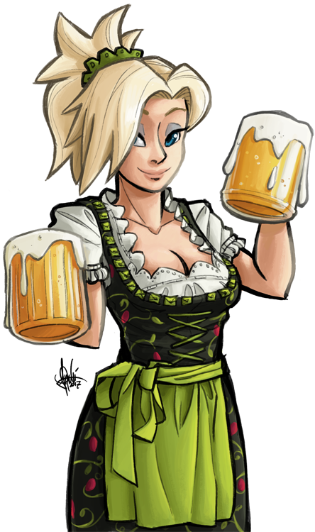 Maid clipart german beer. The best medicine overwatch