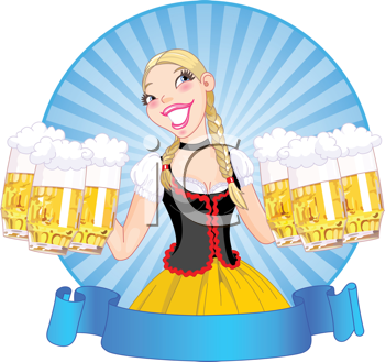 Maid clipart german beer. Royalty free image of