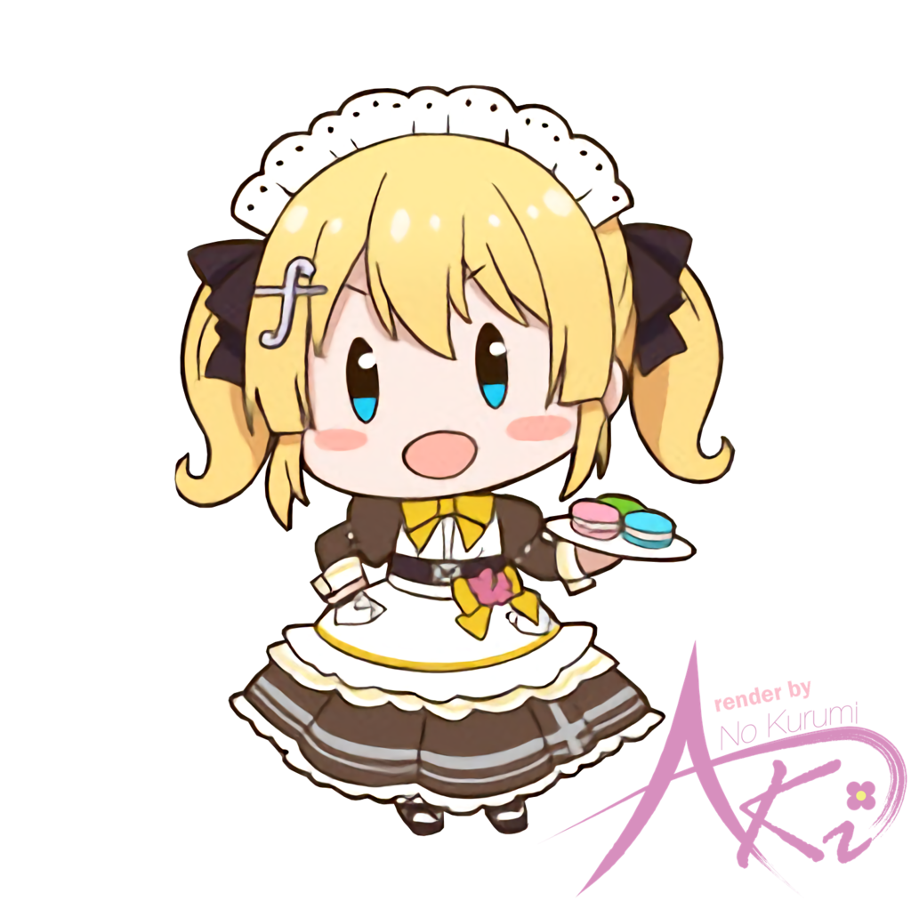 Maid clipart happy. Chibi kanon render by