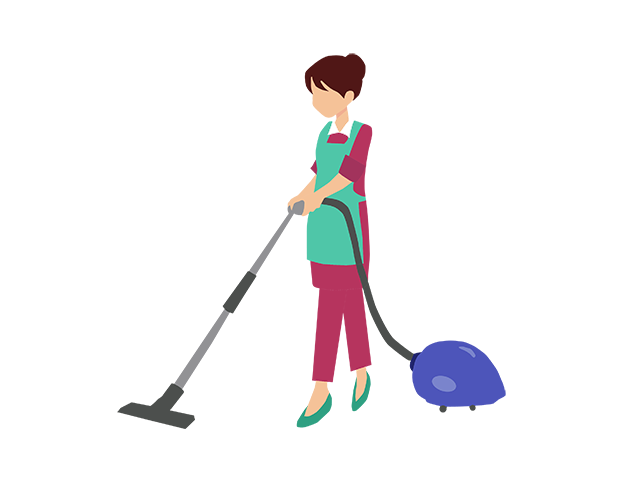 Home who we are. Maid clipart janitor