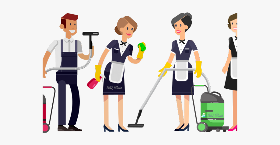 Maid clipart love house. Uniform clean cleaning team