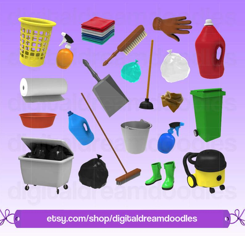 Cleaning housekeeping clip art. Maid clipart love house