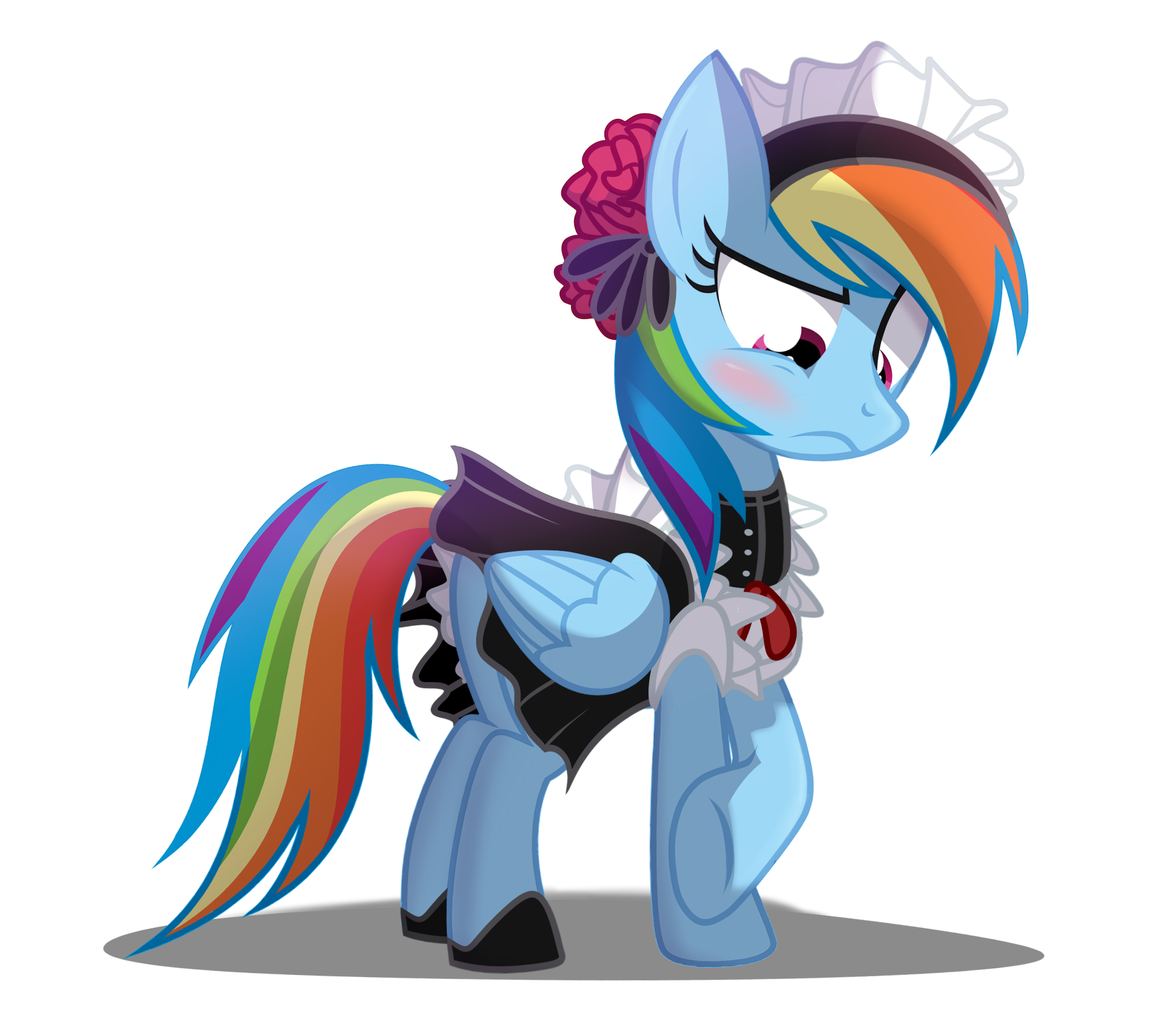 Rainbow dash in pinterest. Maid clipart maid outfit