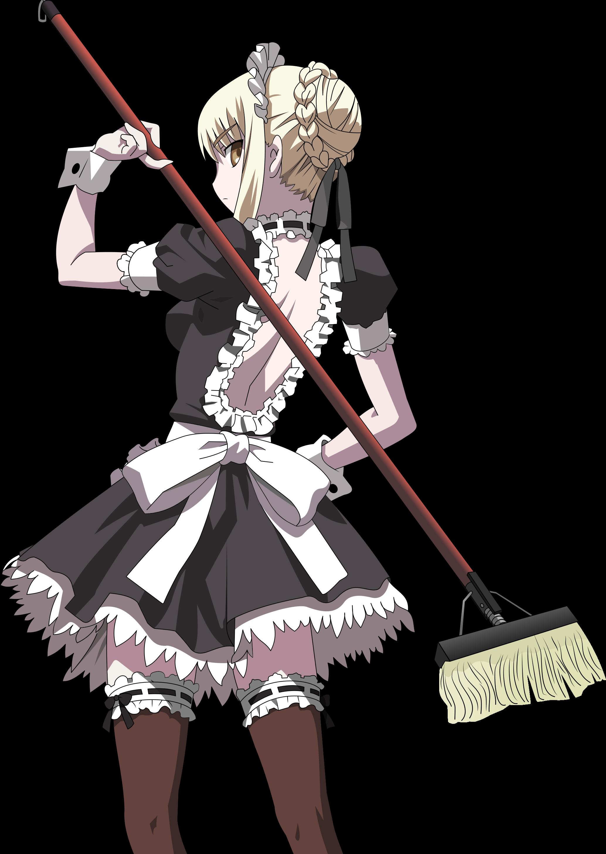 Maid clipart maid outfit. Fixed carnival phantasm postcard