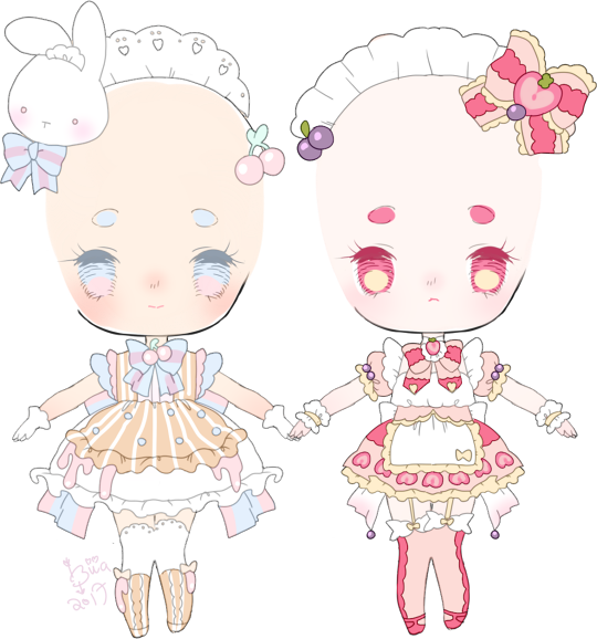 Maid clipart maid outfit. Commissions by hacuubii on