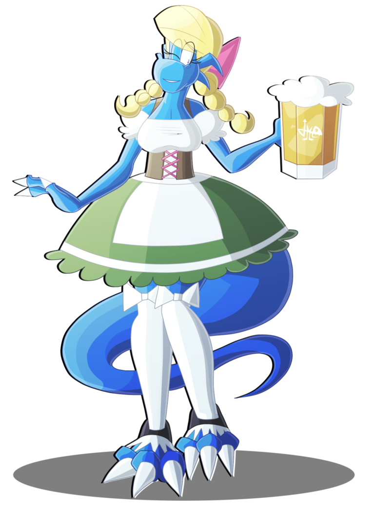 Alice beer dragoness by. Maid clipart maiden